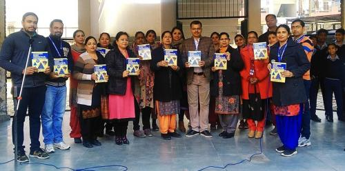 Headmistress Mrs Darshanjit Kaur released a book LEARNING BASIC CONCEPTS OF MATHEMATICS written by TGT Maths Mr Amandeep Sahni